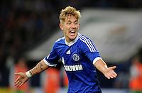 FUSSBALL   1. BUNDESLIGA  SAISON 2012/2013   7. Spieltag   FC Schalke 04 - VfL Wolfsburg        06.10.2012 Lewis Holtby (FC Schalke 04) emotional