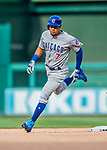 29 June 2017: Chicago Cubs infielder Jeimer Candelario rounds the bases after hitting his first major league home run to lead off the 7th inning against the Washington Nationals at Nationals Park in Washington, DC. The Cubs rallied to defeat the Nationals 5-4 and split their 4-game series. Mandatory Credit: Ed Wolfstein Photo *** RAW (NEF) Image File Available ***