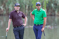 Charl Schwartzel (RSA) Branden Grace (RSA) during the 1st round of the BMW SA Open hosted by the City of Ekurhulemi, Gauteng, South Africa. 12/01/2017<br /> Picture: Golffile | Tyrone Winfield<br /> <br /> <br /> All photo usage must carry mandatory copyright credit (&copy; Golffile | Tyrone Winfield)