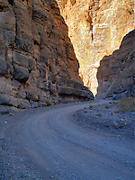 Road in Titus Canyon. Death Valley National Park, California