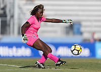 Bradenton, FL - Sunday, June 10, 2018: Madelina Fleuriot prior to a U-17 Women's Championship match between the United States and Haiti at IMG Academy.  USA defeated Haiti 3-2 to advance to the finals.