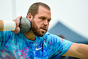"""16th March 2018, Retro Sports Facility, Christchurch, New Zealand;  Ryan Whiting (USA) during """"The Big Shot""""  shot-put competition"""