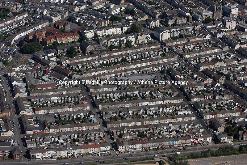 Aerial view of Sandfields Swansea