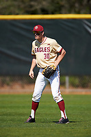 Boston College Eagles right fielder Donovan Casey (30) during a game against the Central Michigan Chippewas on March 3, 2017 at North Charlotte Regional Park in Port Charlotte, Florida.  Boston College defeated Central Michigan 5-4.  (Mike Janes/Four Seam Images)