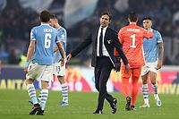 Simone Inzaghi coach of Lazio celebrates at the end of the match<br /> Roma 07-12-2019 Stadio Olimpico <br /> Football Serie A 2019/2020 <br /> SS Lazio - Juventus FC<br /> Photo Cesare Purini / Insidefoto