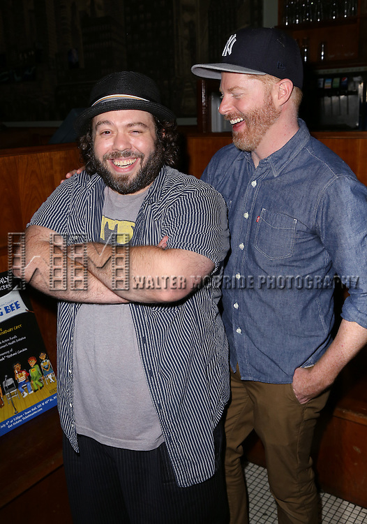 Dan Fogler and Jesse Tyler Ferguson attends the After Party for the One Night Only 10th Anniversary Concert of 'The 25th Annual Putnam County Spelling Bee' at Town Hall on July 6, 2015 in New York City.