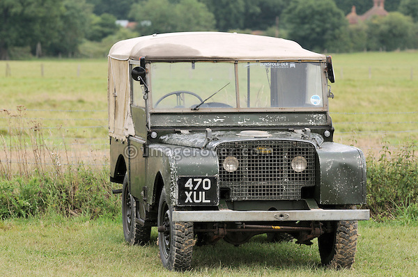 Very original  and unrestored Land Rover Series 1 80 inch. Dunsfold Collection of Land Rovers Open Day 2011, Dunsfold, Surrey, UK. --- No releases available, but releases may not be necessary for certain uses. Automotive trademarks are the property of the trademark holder, authorization may be needed for some uses.