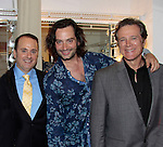 Nick Katsoris (author Loukoumi books), Guiding Light Frank Dicopouls (R) and Bold and The Beautiful Constantine Maroulis at Loukoumi & Friends Concert held on June 23, 2014 at the Scholastic Theatre, New York City, New York. Proceeds will benefit The Loukoumi Make a Difference Foundation. Foundation first project will be the Make A Difference with Loukoumi television special airing on FOX stations Oct 19-20. (Photo by Sue Coflin/Max Photos)