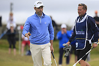 Oliver Wilson (ENG) sinks his birdie putt on the 16th green during Saturday's Round 3 of the Dubai Duty Free Irish Open 2019, held at Lahinch Golf Club, Lahinch, Ireland. 6th July 2019.<br /> Picture: Eoin Clarke | Golffile<br /> <br /> <br /> All photos usage must carry mandatory copyright credit (© Golffile | Eoin Clarke)