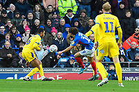 Marcus Harness of Portsmouth has a shot on goal during Portsmouth vs AFC Wimbledon, Sky Bet EFL League 1 Football at Fratton Park on 11th January 2020