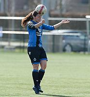 Zulte C - Club Brugge B : Dames Club Brugge B kampioen in 1ste provinciale met Amy Roman<br /> Foto David Catry | Sportpix.be