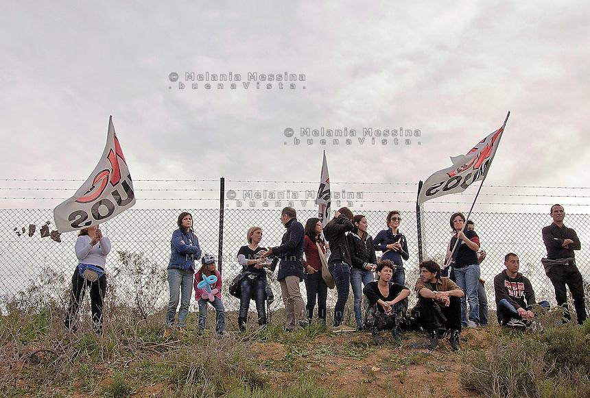 Niscemi: manifestazione contro l'installazione del MUOS.<br /> Niscemi: demonstration against the installation of MUOS