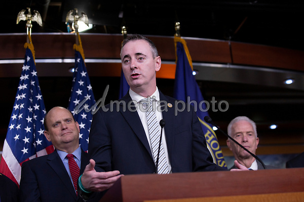 United States Representative Brian Fitzpatrick (Republican of Pennsylvania) delivers remarks during a news conference regarding legislative goals for the upcoming year at the United States Capitol in Washington D.C., U.S. on Tuesday, February 11, 2020.  <br /> <br /> Credit: Stefani Reynolds / CNP/AdMedia