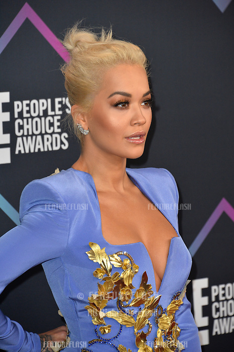 LOS ANGELES, CA. November 11, 2018: Rita Ora at the E! People's Choice Awards 2018 at Barker Hangar, Santa Monica Airport.<br /> Picture: Paul Smith/Featureflash