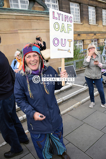 Defend Democracy: Stop The Coup protest outside City Hall, Norwich UK 7 September 2019 - anti Boris Johnson protest