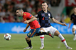 Spain's Dani Carvajal (l) and Croatia's Ivan Perisic during UEFA Nations League 2019 Final Tournament match. September 11,2018.(ALTERPHOTOS/Acero)