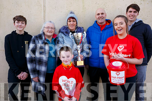Family members in attendance at the Jack O&rsquo;Sullivan 3rd annual Memorial five-a-side soccer tournament held in the Ballybunion Community Centre on Sunday last.  <br /> L-r,Peter O&rsquo;Sullivan, Mercy Falvey, Marion O&rsquo;Sullivan, Padraig O&rsquo;Sullivan, Dale O&rsquo;Sullivan, Kerrie Ann Williams Kissane and Evan Mannix.