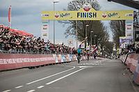 Victory for Michael Valgren Andersen (DEN/Astana). <br /> <br /> 53th Amstel Gold Race (1.UWT)<br /> 1 Day Race: Maastricht &gt; Berg en Terblijt (263km)