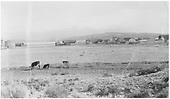 Distant, pastoral view of Espanola depot and other facilities.<br /> D&amp;RG  Espanola, NM  1889