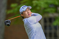 Amy Yang (KOR) watches her tee shot on 14 during round 2 of the U.S. Women's Open Championship, Shoal Creek Country Club, at Birmingham, Alabama, USA. 6/1/2018.<br /> Picture: Golffile | Ken Murray<br /> <br /> All photo usage must carry mandatory copyright credit (&copy; Golffile | Ken Murray)