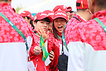 (L-R) Namika Matsumoto, Kanae Yagi (JPN), <br /> AUGUST 2, 2016 : <br /> Welcome ceremony for the Japanese delegation <br /> during the Rio 2016 Olympic Games <br /> at Athlete's Village, in Rio de Janeiro, Brazil. <br /> (Photo by Yohei Osada/AFLO SPORT)