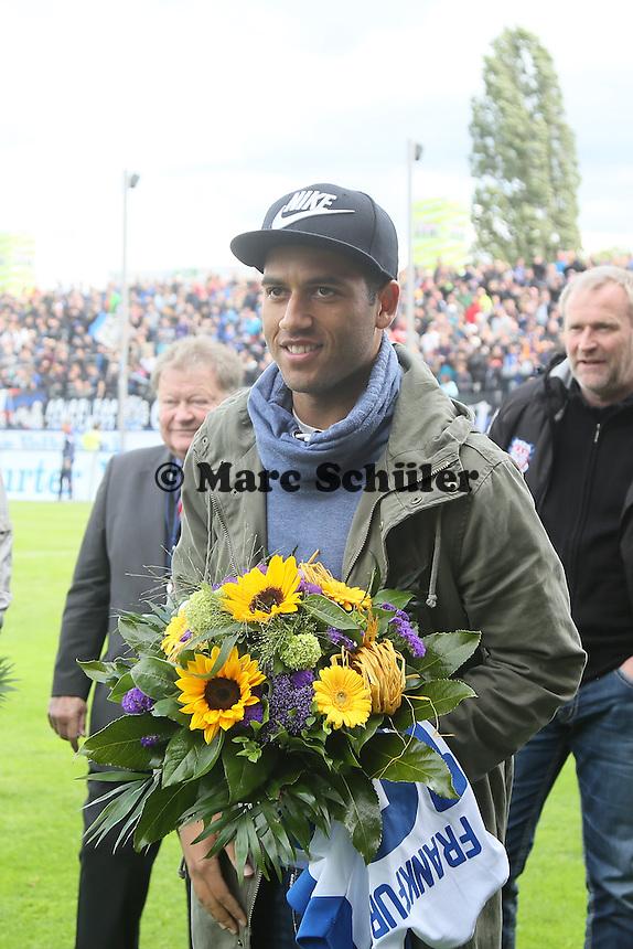 Andrew Wooten (FSV) wird verabschiedet - FSV Frankfurt vs. 1. FC Koeln, Frankfurter Volksbank Stadion