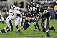 22 November 2008:  FIU quarterback Paul McCall (12) scrambles in the ULM 31-27 victory over FIU at FIU Stadium in Miami, Florida.