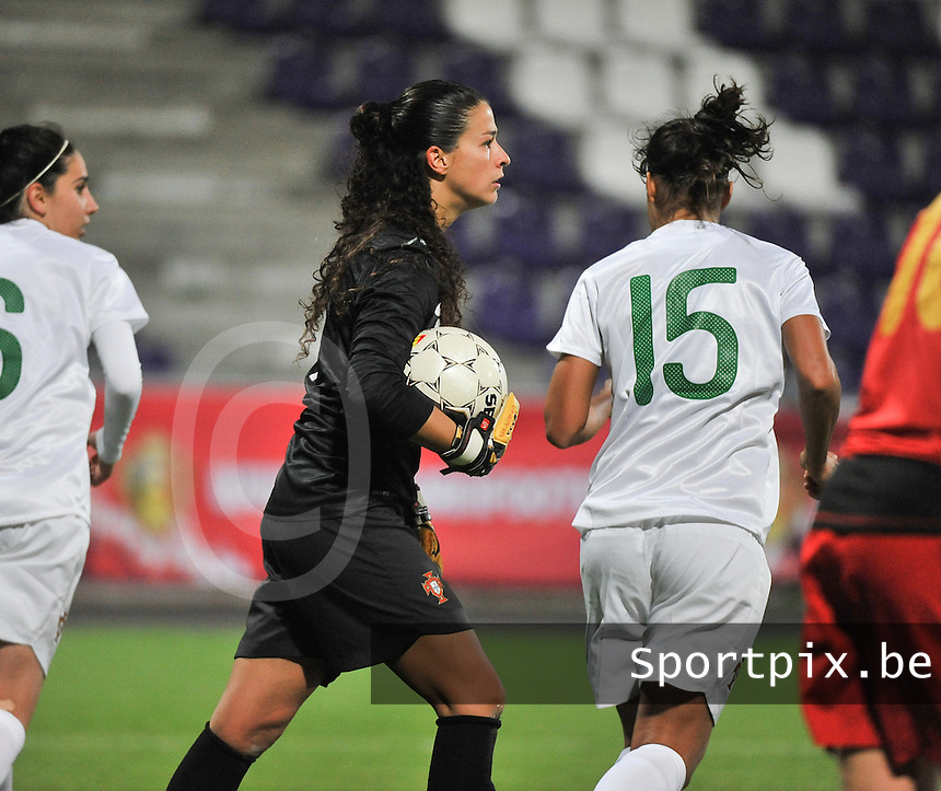 20131031 - ANTWERPEN , BELGIUM : Portugese Neide Simoes pictured during the female soccer match between Belgium and Portugal , on the fourth matchday in group 5 of the UEFA qualifying round to the FIFA Women World Cup in Canada 2015 at Het Kiel stadium , Antwerp . Thursday 31st October 2013. PHOTO DAVID CATRY