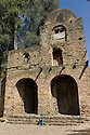 26/01/12. Gondar, Ethiopia. The church of Debre Berhan Selassie, Gondar has a gate in the shape of a lion, to represent Jesus, and its interior is covered in 'kirobel' (cherubs), which have become an often used motif in Ethiopian design.  Photo credit: Jane Hobson.