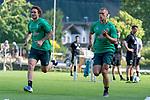04.07.2019, Parkstadion, Zell am Ziller, AUT, TL Werder Bremen - Tag 00<br /> <br /> im Bild / picture shows 1. Training im TL Zillertal am Mittwoch abend<br /> <br /> Joshua Sargent (Werder Bremen #19)<br /> Felix Beijmo (Werder Bremen #02)<br /> <br /> Foto © nordphoto / Kokenge