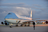 WEST PALM BEACH, FL ñ NOVEMBER 21: General view of Air Force One landing at  Palm Beach International Airport with U.S. President Donald Trump his wife Melania Trump and son Barron Trump inside to spend Thanksgiving weekend at Mar-a-Largo resort November 21, 2017 in West Palm Beach, Florida. President Trump has made numerous trips to his Florida home since being President. Credit: MPI10 / MediaPunch NortePhoto.com