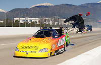 Feb. 27, 2011; Pomona, CA, USA; NHRA funny car driver Bob Bode during the Winternationals at Auto Club Raceway at Pomona. Mandatory Credit: Mark J. Rebilas-.
