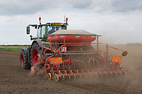 Drilling Peas in the Lincolnshire fens<br /> &copy;Tim Scrivener Photographer 07850 303986<br /> ....Covering Agriculture In The UK....