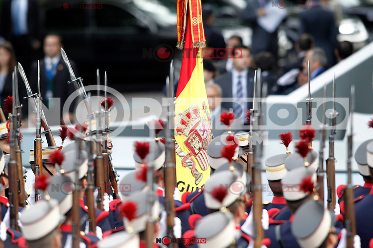 Flag of Spain during the National Day Military Parad.October 12,2012.(ALTERPHOTOS/Acero) /NortePhotoAgency