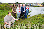 Billy Cotter Laune Anglers, Karen Griffin Inland Fisheries Ireland, Margaret Walsh Astellas Environmental Officer, Pat Curran Killorglin Beekeepers, Billy Downes Laune Anglers and Jane Jackson Invasive Species Survey who are alarmed by the spread of Japanese Knotweed along the River Laune