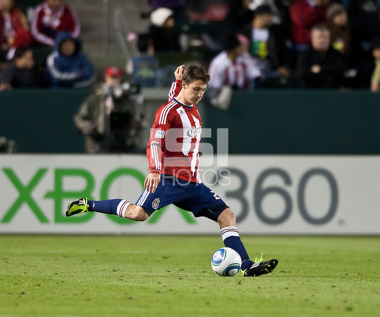 CARSON, CA – MARCH 26: Chivas USA defender Ben Zemanski (21) during the match between Chivas USA and Colorado Rapids at the Home Depot Center, March 26, 2011 in Carson, California. Final score Chivas USA 0, Colorado Rapids 1.
