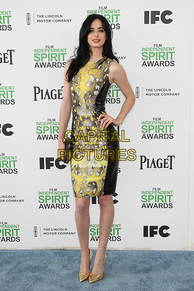 SANTA MONICA, CA - MARCH 1: Krysten Ritter attending the 2014 Film Independent Spirit Awards in Santa Monica, California on March 1st, 2014. Photo Credit: RTNUPA/MediaPunch<br /> CAP/MPI/RTNUPA<br /> &copy;RTNUPA/MediaPunch/Capital Pictures