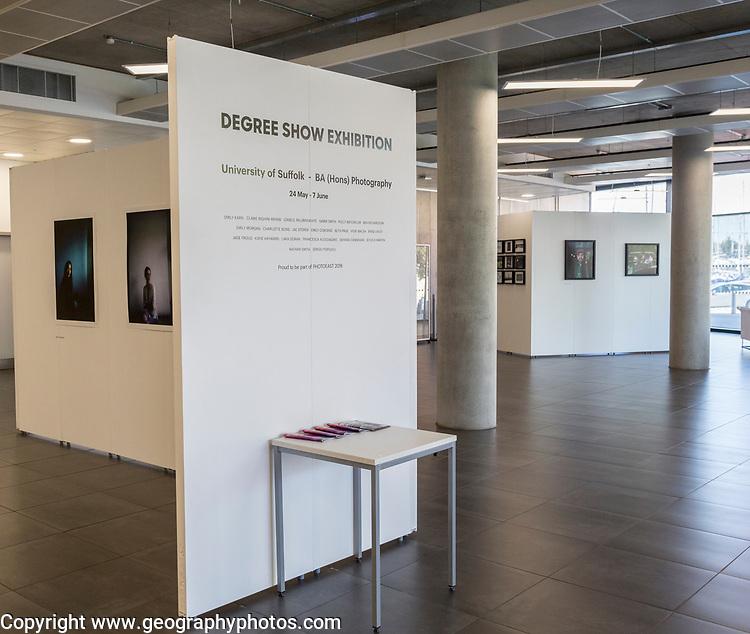 Photography 2018 degree show exhibition, University of Suffolk, Ipswich, Suffolk, England, UK