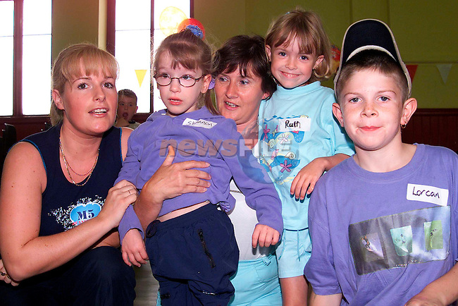 Rosemary and Shannen McCartney, Brickfield, Geraldine and Ruth Lennon, Termonfeckin and Lorcan Carroll, Marian Park who took part in the Summer Project for children with special needs..Picture: Paul Mohan/Newsfile