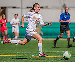 29 September 2013: University of Vermont Catamount \puvm4\, in action against the Stony Brook University Seawolves at Virtue Field in Burlington, Vermont. The Lady Cats fell to the visiting Seawolves 2-1 in America East play. Mandatory Credit: Ed Wolfstein Photo *** RAW (NEF) Image File Available ***