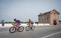 2-man breakaway with Jorge Cubero (ESP/Burgos-BH) & Jelle Wallays (BEL/Lotto-Soudal)<br /> <br /> Stage 4: Cullera to El Puig (175km)<br /> La Vuelta 2019<br /> <br /> ©kramon