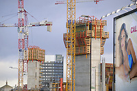 - Milan, construction site for restructuring of Porta Nuova - Porta Garibaldi area<br /> <br /> - Milano, cantieri edili per la riconversione dell'area di  Porta Nuova - Porta Garibaldi
