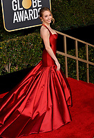 LOS ANGELES, CA. January 06, 2019: Holly Taylor at the 2019 Golden Globe Awards at the Beverly Hilton Hotel.<br /> Picture: Paul Smith/Featureflash