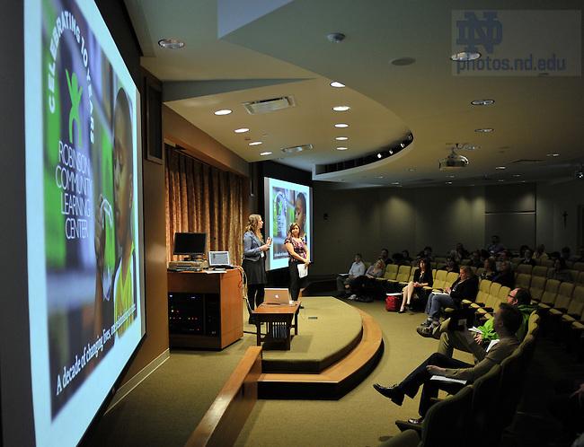 Apr. 15, 2011; TEDxND..Photo by Matt Cashore/University of Notre Dame