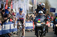 Zdenek Stybar (CZE/Etixx-QuickStep) coming over the finish line in 2nd<br /> <br /> 58th E3 Harelbeke 2015