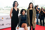 "Miranda Gas, Olivia Delcan and Melina Matthews pose to the media during the presentation of the film ""Blood Red Carpet"" at Festival de Cine Fantastico de Sitges in Barcelona. October 13, Spain. 2016. (ALTERPHOTOS/BorjaB.Hojas)"