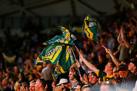 Australian fans celebrate and wave flags after scoring a try during the Australia Vs England 2017 Rugby League World Cup match at the Melbourne Rectangular Stadium, Melbourne Australia. Friday 27 October 2017. © copyright photo: Brendon Ratnayake / www.Photosport.nz MANDATORY CREDIT/BYLINE: SWpix.com/PhotosportNZ
