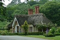 Deenagh thatched cottage at Knockreer at the entrance to the Killarney Demesne in Killarney.<br /> <br /> Photo: Don MacMonagle <br /> e: info@macmonagle.com