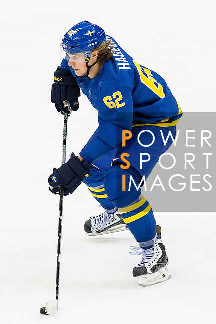 Carl Hagelin of Sweden in action during the match between Sweden vs Czech Republic during their Men's Ice Hockey Preliminary Round Group C game on day five of the 2014 Sochi Olympic Winter Games at Bolshoy Ice Dome on February 12, 2014 in Sochi, Russia. Photo by Victor Fraile / Power Sport Images