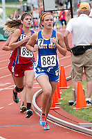 Scott City junior Isabella Bowers runs to a runner-up finish in the Class 2 1600-meters. Bowers finished in 5:25.81.